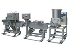 M-8 Automatic Hamburger & Nuggets Forming and Coating Processing Line
